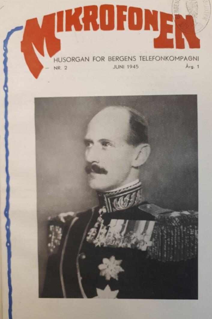 Bergens Telefonkompagni ga også ut sitt eget tidsskrift, nemlig «Mikrofonen. Husorgan for Bergens telefonkompagni». I tidens løp ble det gitt ut mange spennende artikler her, deriblant en i 1945 som stipulerte at det ville finnes 100 millioner telefoner i verden i 1975. Her, fremsiden til «Mikrofonen» fra juni 1945.