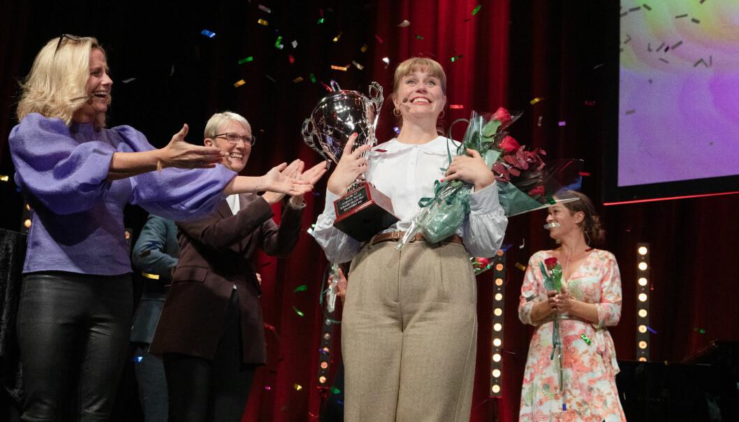 Tora Söderstrøm Gaden fekk seks av seks moglege seksarar, og vann med det Forsker Grand Prix-finalen i Trondheim 2020