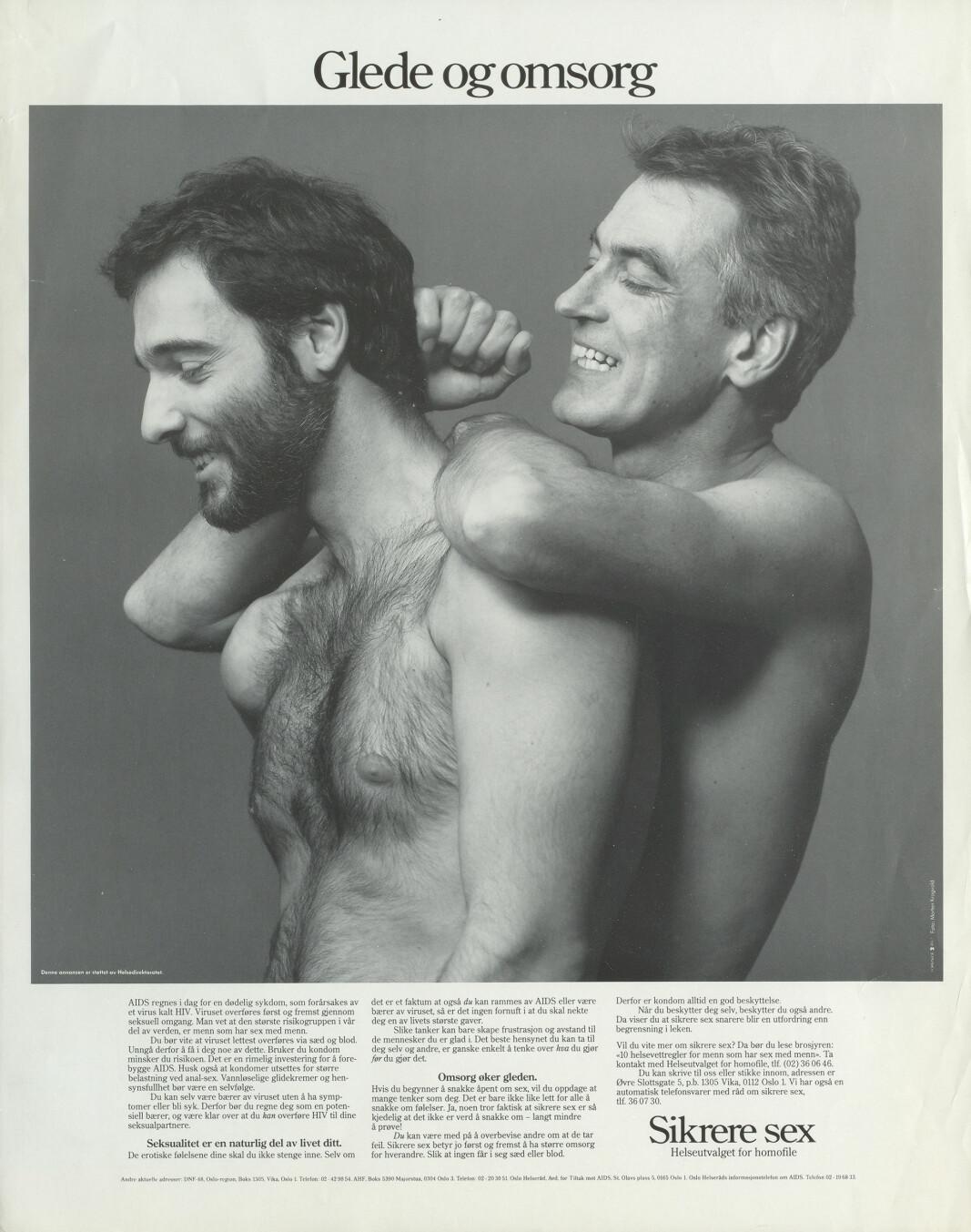 Plakatene løfter frem verdier som står i kontrast til forestillinger om overfladiske og følelsesløse homoseksuelle relasjoner.