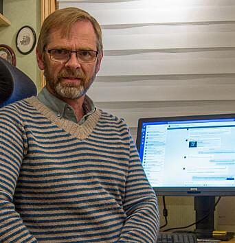 Sjefsingeniør ved IT-avdelingen, Magne Bergland på hjemmekontoret.