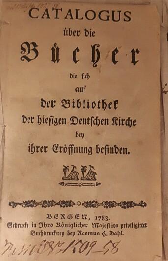 Bokkatalogen fra 1783.