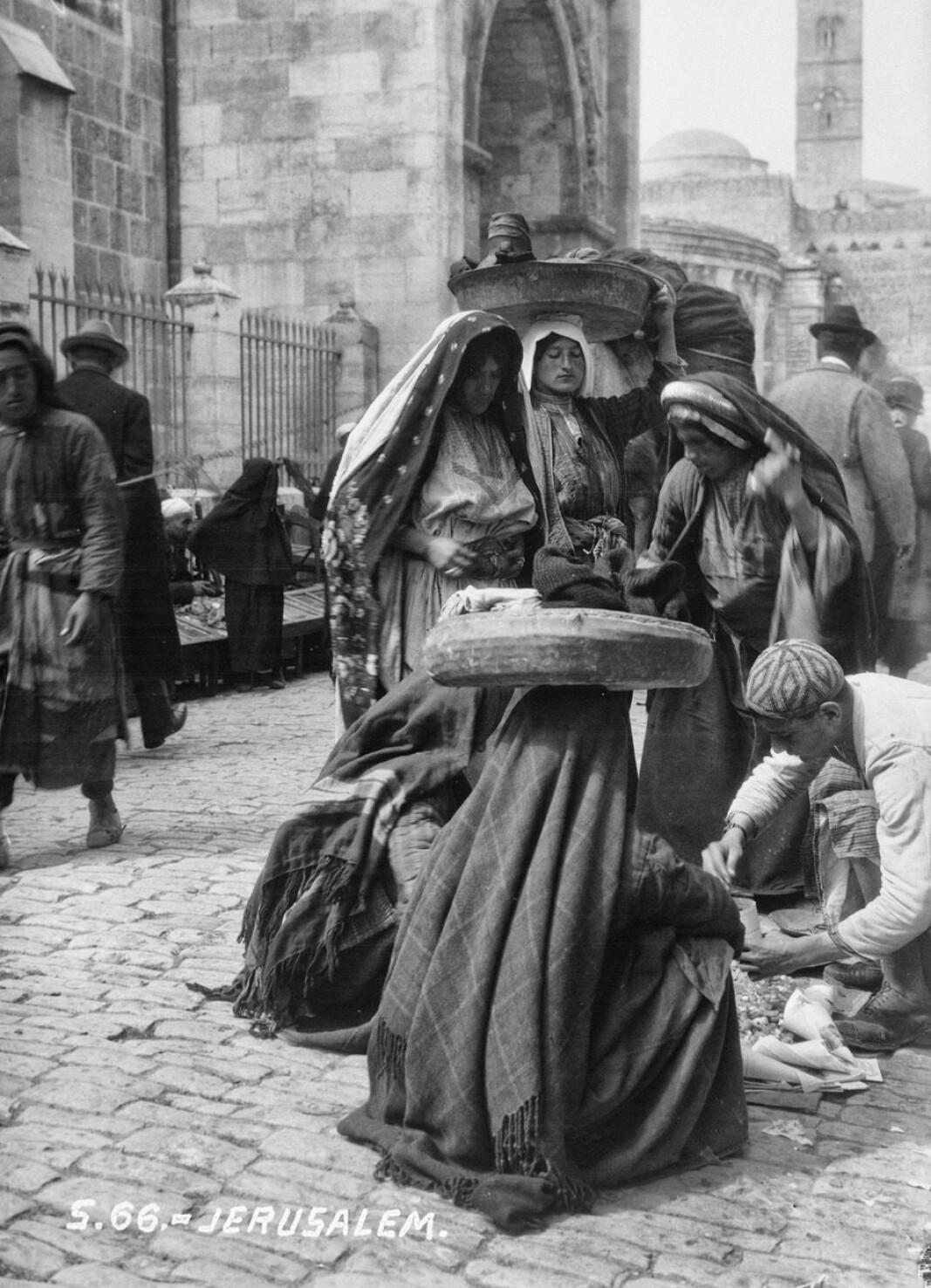 Bildet fra Jerusalem rundt 1930.