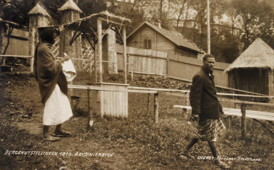 """""""Abysinerlandsby"""" fra Landustillingen i 1910."""
