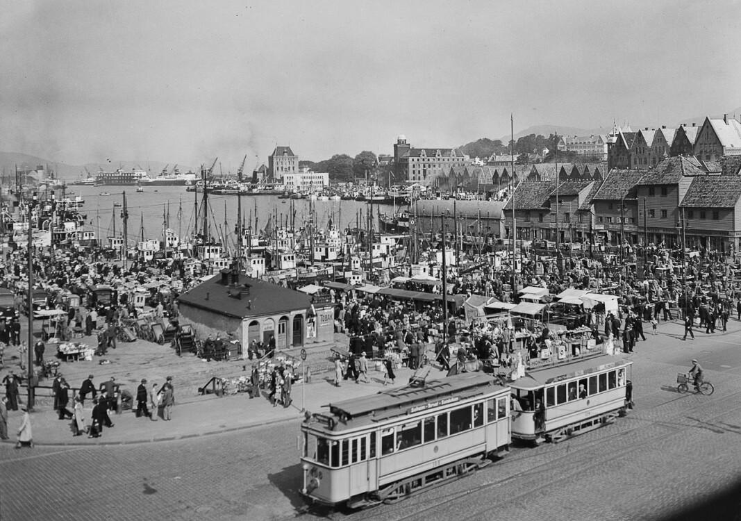 Vågsallmenningen rundt 1900.