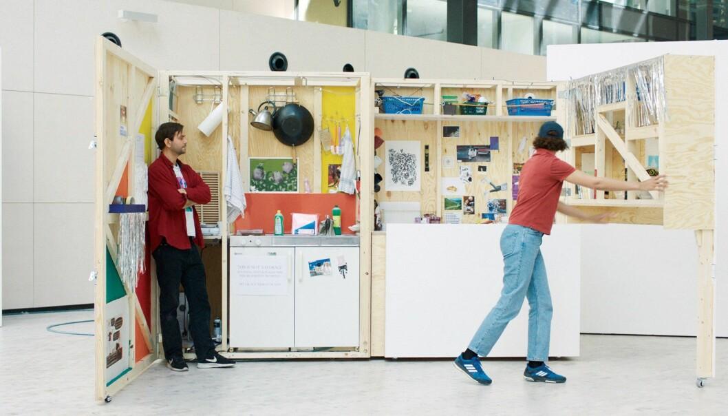 PÅ UTSTILLING: Et hemmelig kjøkken fra Fakultet for Kunst, musikk og design (KMD).