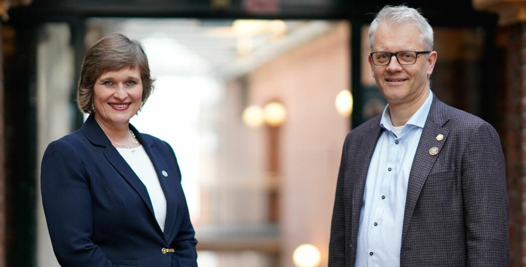 Oddrun Samdal (rektorkandidat) og Nils Gunnar Kvamstø (prorektorkandidat).