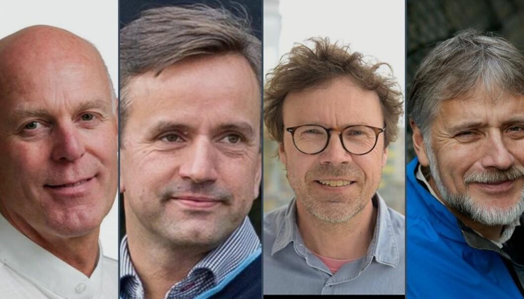 Fra venstre: Nikolai Østgaard, Inge Jonassen, Pål Rasmus Njølstad, Eystein Jansen.