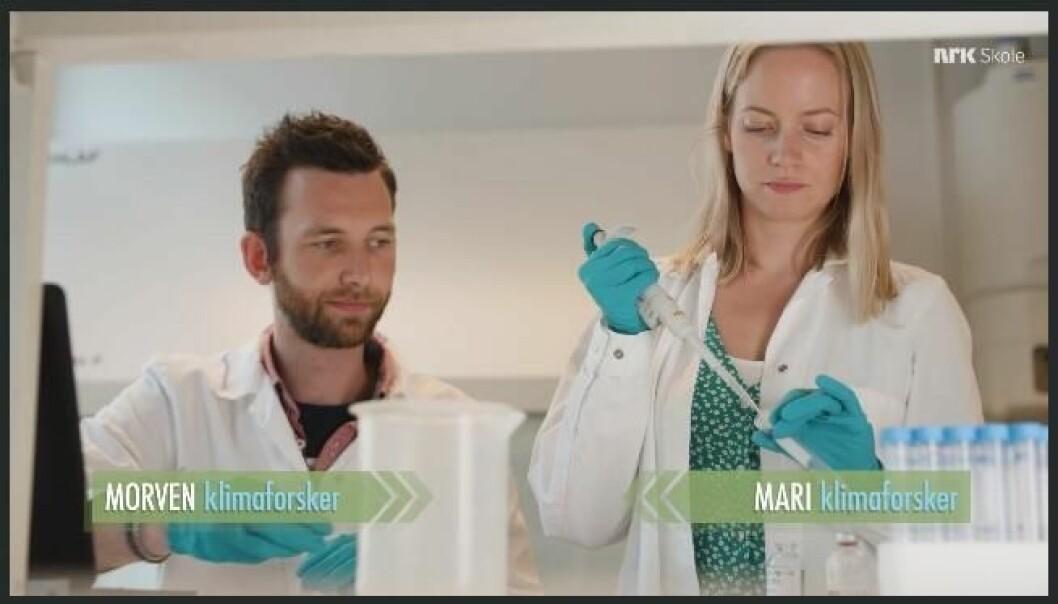 SAMARBEID: Mari Fjalstad Jensen og Morven Muilwijk utfordrer vanlige familier til å endre vaner for å kutte klimagass-utslipp.