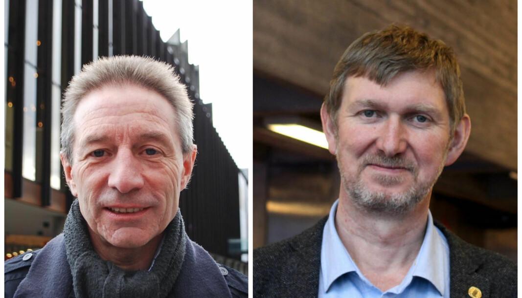 Instituttlederne Leif Ove Larsen og Øyvind Frette.