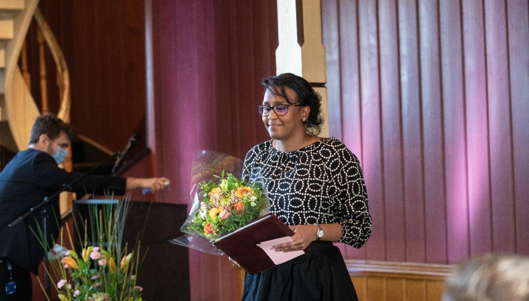 Salwa Suliman mottok Meltzerpris for yngre forskere.