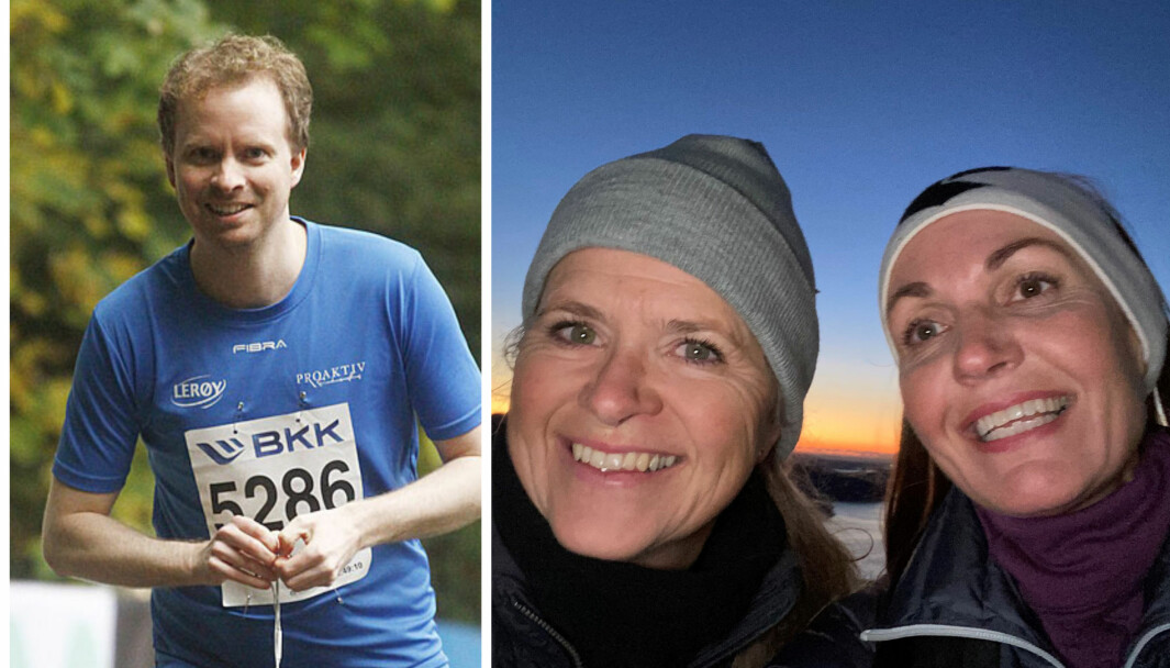 DIGITAL LANGTUR: Asbjørn Sæther, Tine Bang-Olsen og og Janne-Beate Duke er med på å gå til Nordkapp.