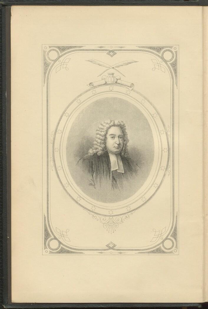 """Jonathan Swift avbildet i 1889 utgave av sine """"Works""""."""