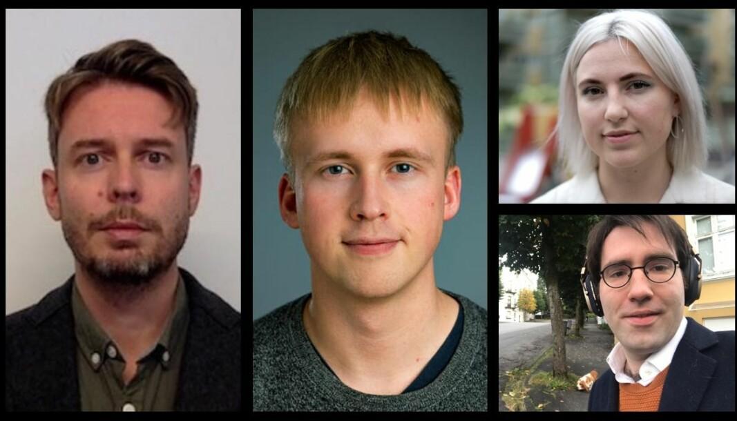 Eirik Hovden, Tarjei Ellingsen Røsvoll, Sofie Marhaug og Peter Sebastian Hatlebakk