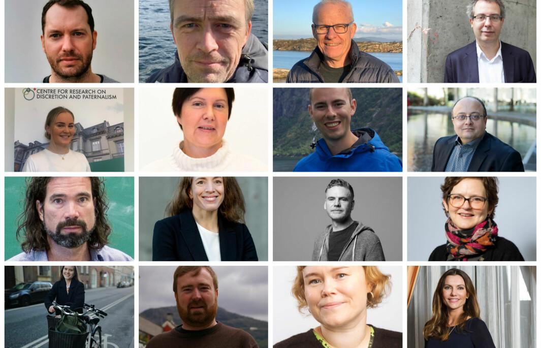 Disse og flere andre ansatte stiller til valg i universitetsstyret.