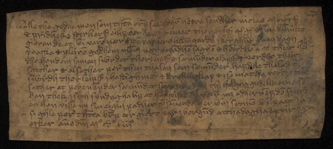 Diplom fra Borgund datert den 8. april 1453.