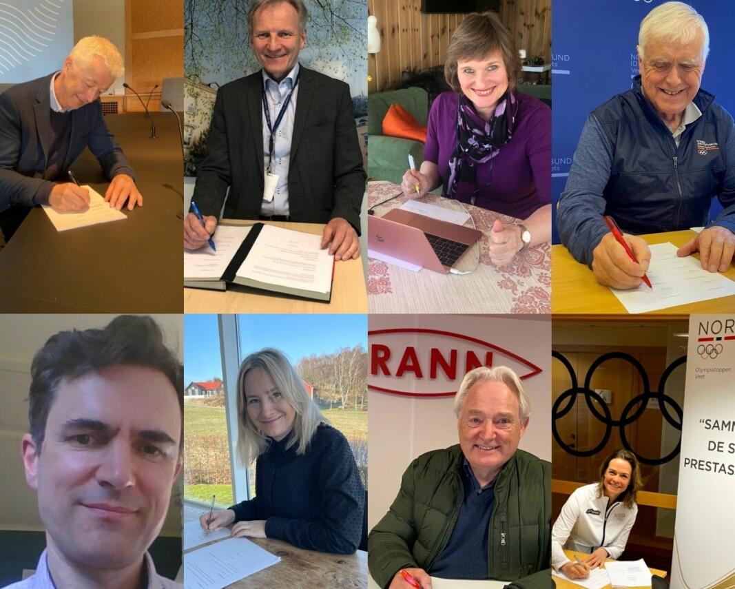 Samarbeidsinstitusjonene i Idrettsklynge Vest signerte avtalen torsdag 15. april.