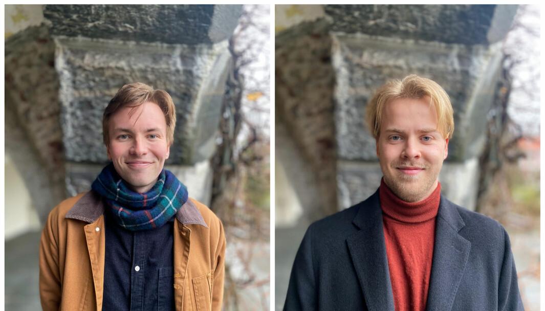 1. kandidat Ole Jacob Broch og 3. kandidat Aksel Haukom.