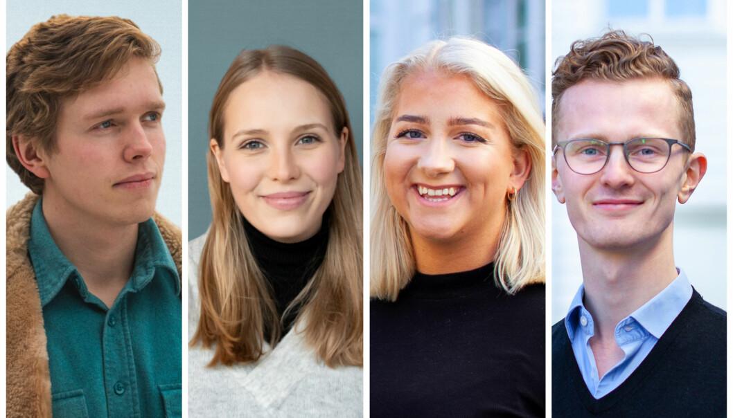 Gard, Cora, Sandra og Kristoffer er noen av kandidatene som stiller til valg.