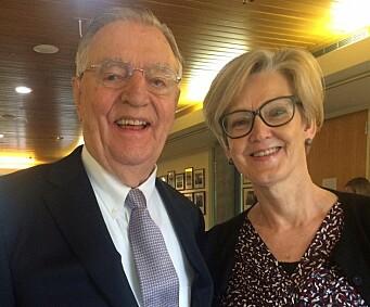 Walter Mondale og Anne-Lise Fimreite