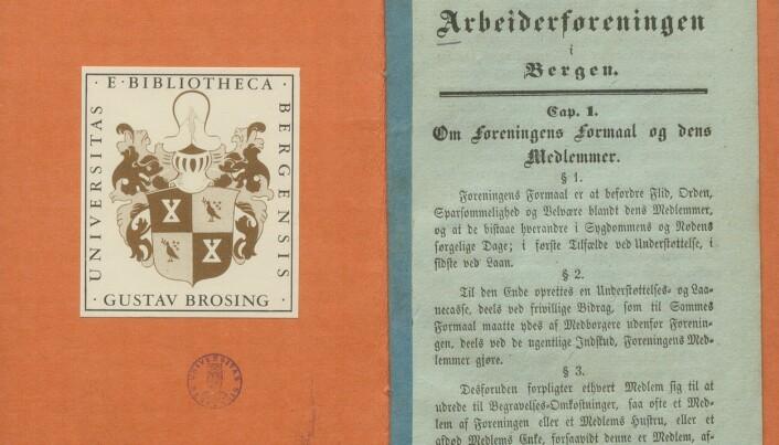 Bergens Arbeiderforenings lover, hvor paragraf en står nedfelt.