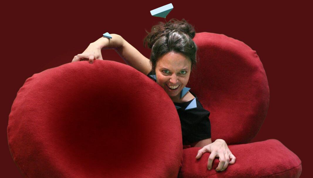 Henriette Ertsås her representert ved sin karakter Vilde Virus i forsteillingen Vilde Virus og den hemmelige invasjonen av Laryngoland