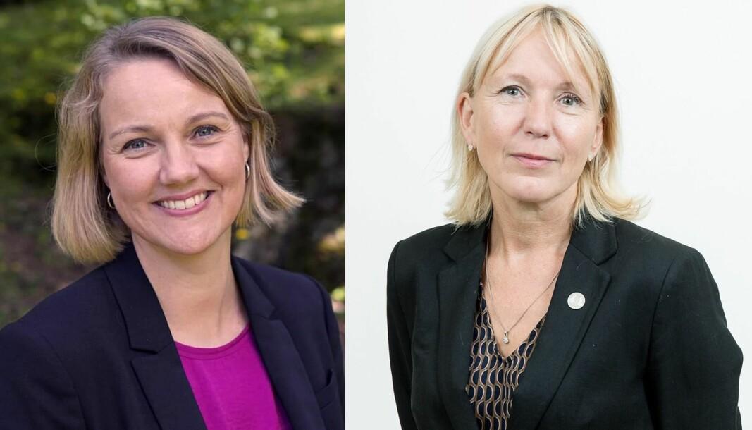 Direktør for forsknings- og innovasjonsavdelingen Benedicte Løseth og rektor Margareth Hagen.