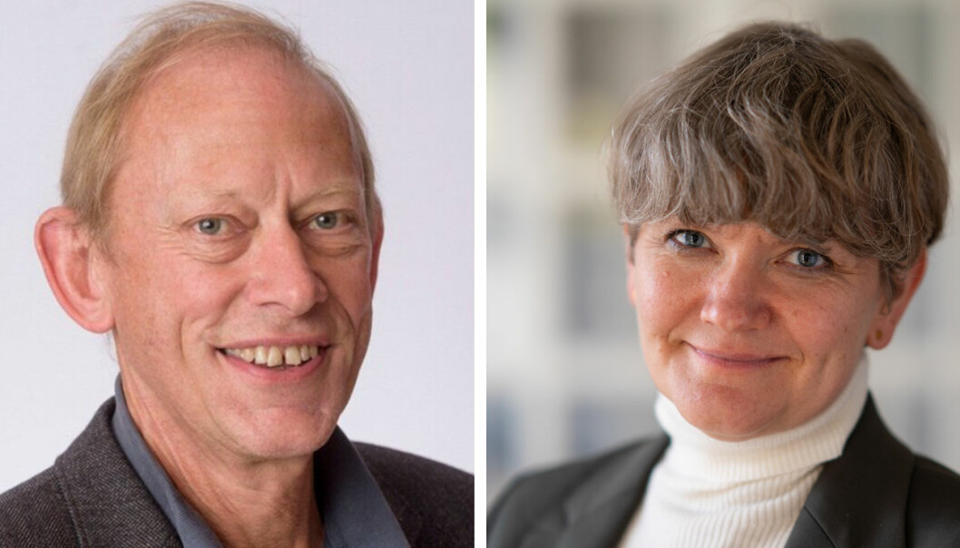Jan Erik Askildsen (dekan) og Ragnhild Louise Muriaas (prodekan for forskning)