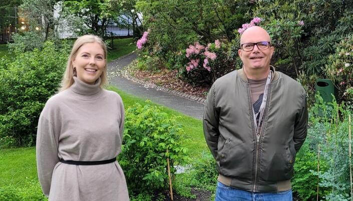Miljøkoordinator Helene Wiken og overingeniør Steinar Sundberg