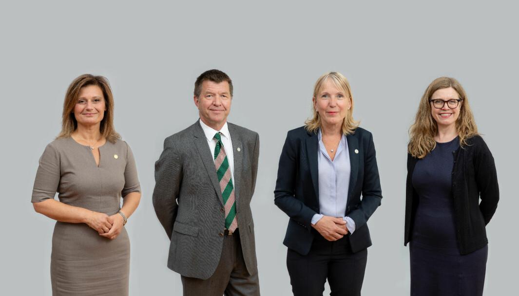 Fv. Pinar Heggernes, Gottfried Greve, Margareth Hagen og Annelin Eriksen.