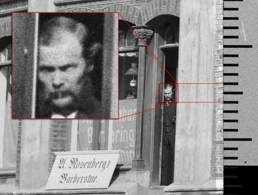 Det er ganske imponerande å sjå at fire kvadratmillimeter på eit negativ, som er mellom 133 og 137 år gammalt, inneheld nok informasjon til å skildra eit ansikt.