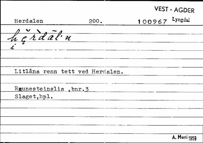 Setel på Herdal fra Bustadnamnregisteret.