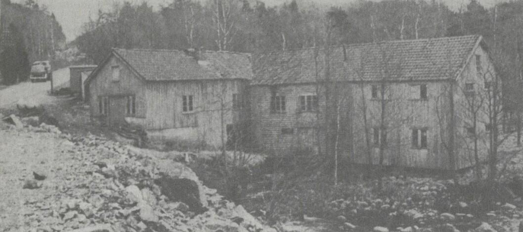 Herdal mølle frø før rivinga i 1974.