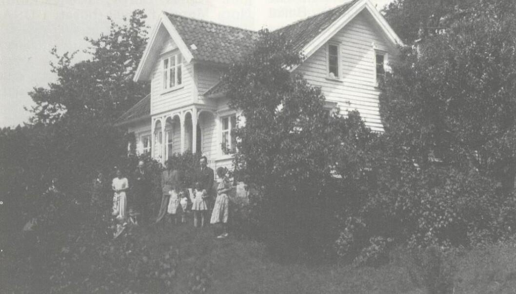 Våningshuset til hovedbruket på Herdal.