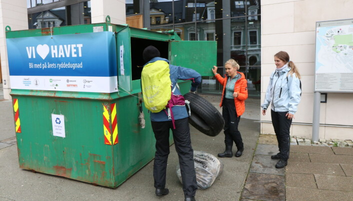 UiB vil ha en container for plastavfall utenfor Studentsenteret under uka.