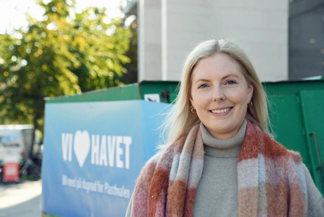 – Det er sprøtt å tenke på at kun 1,5 kg plast kan ta livet av en hel hval, sier miljøkoordinator Helene Wiken.