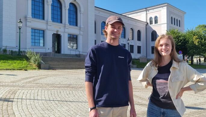 Vegard Sæle og Stine Lise Sørvik har praksis hos EIA dette semesteret.