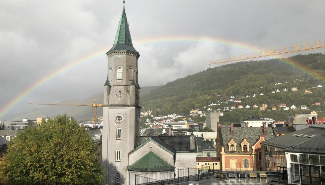 Regnbuebyen Bergen.